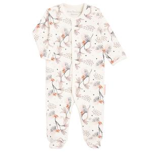 Pyjama naissance contenant du coton bio Exotic Bird