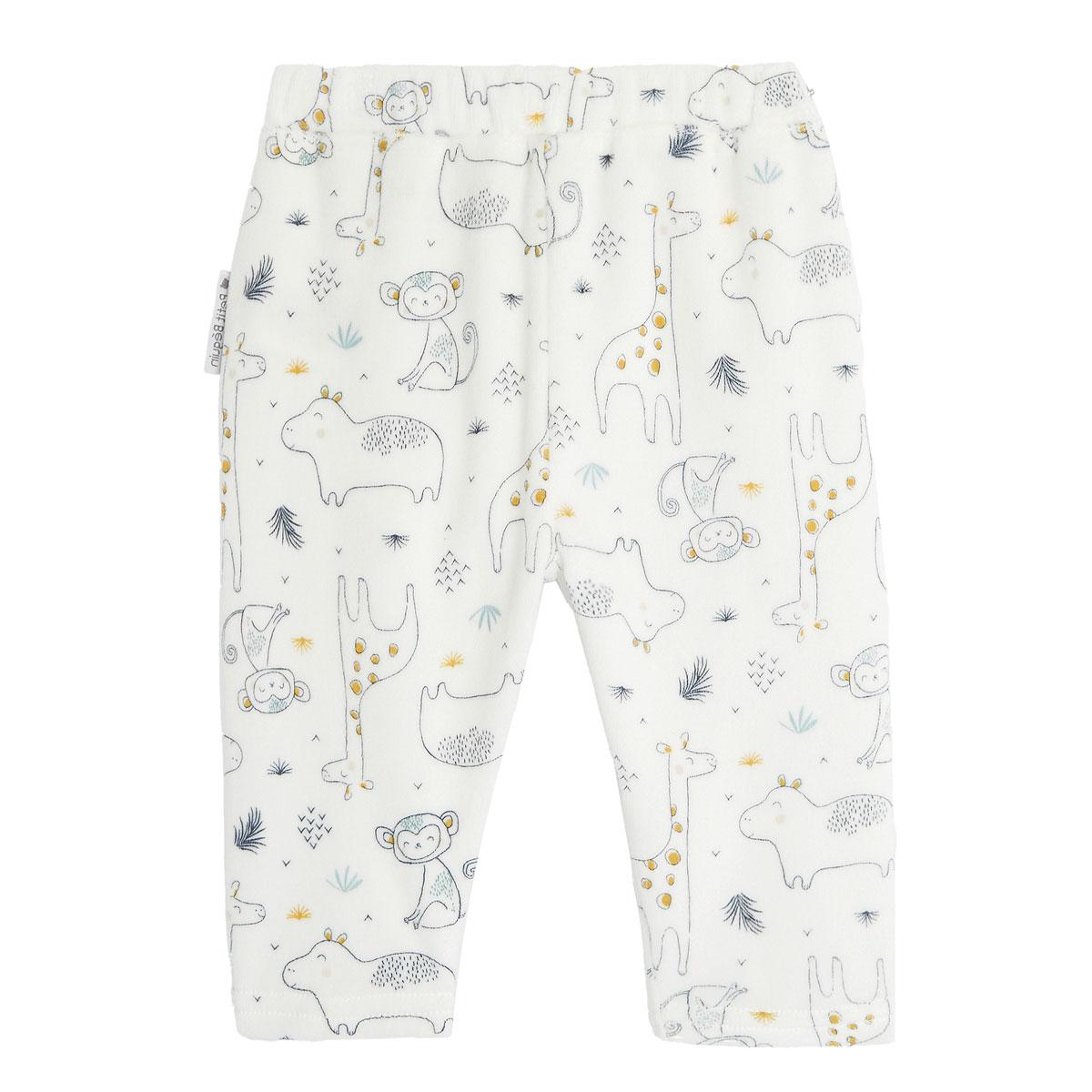 Ensemble bébé garçon gilet croisé et pantalon contenant du coton bio Sous le soleil pantalon dos
