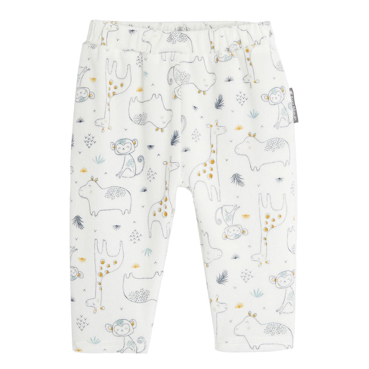 Ensemble bébé garçon gilet croisé et pantalon contenant du coton bio Sous le soleil pantalon face