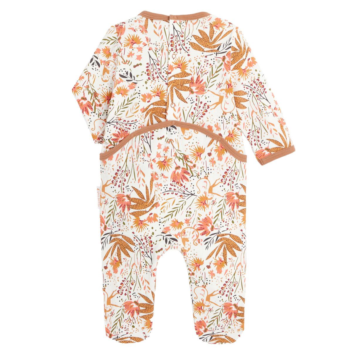 Pyjama bébé contenant du coton bio Copa Banana dos