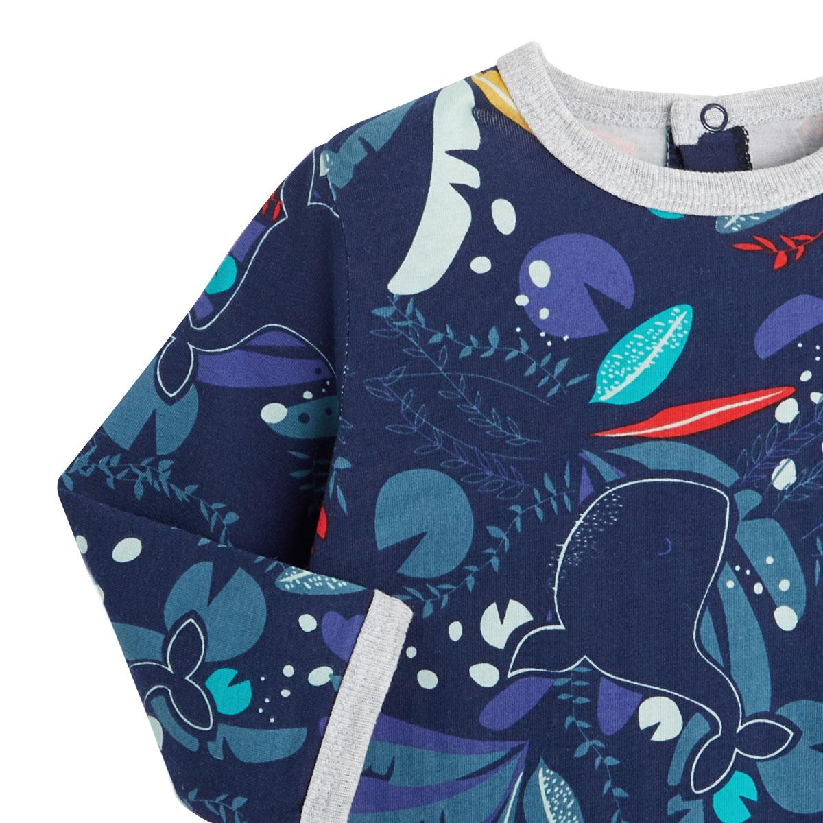 Pyjama bébé contenant du coton bio Sea You zoom