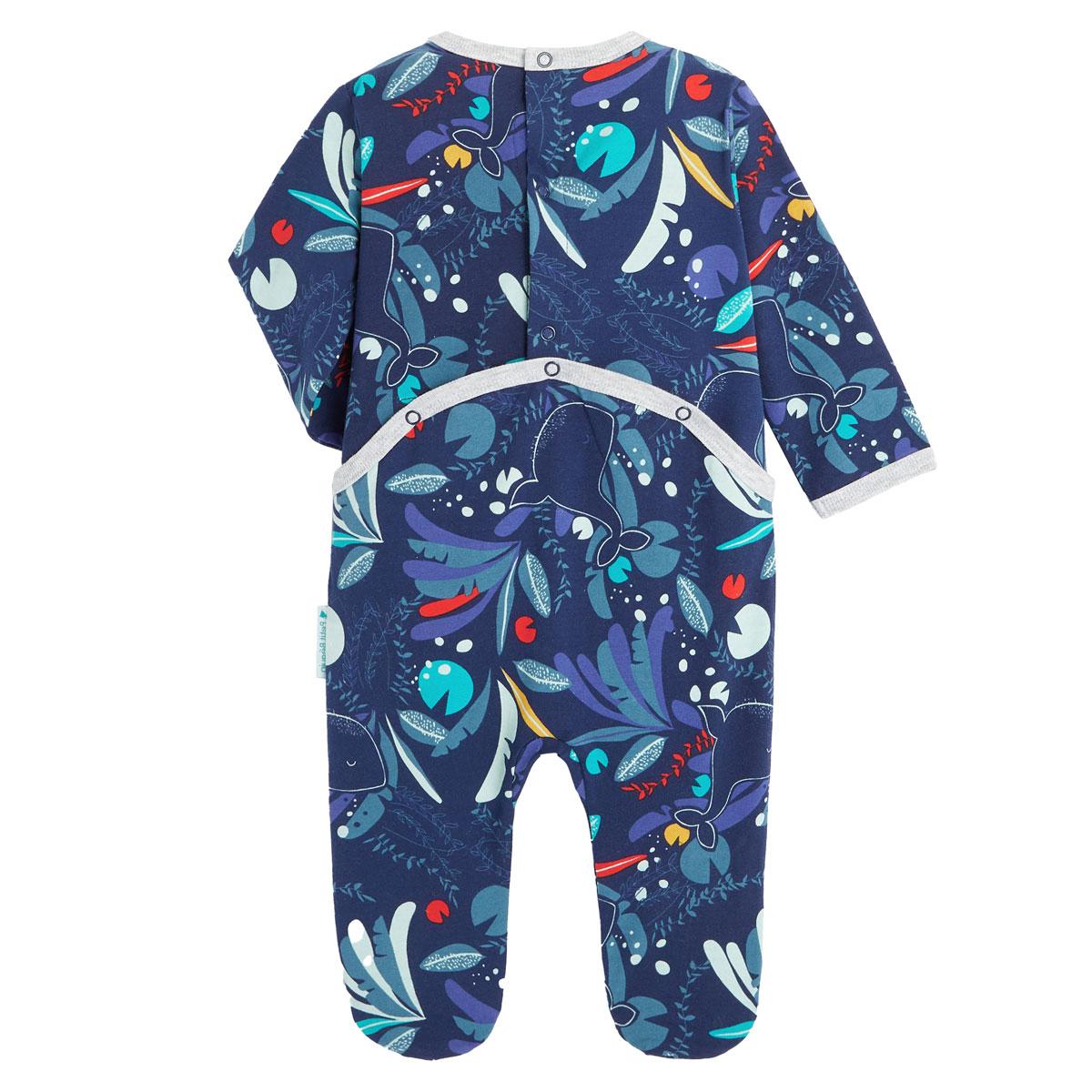 Pyjama bébé contenant du coton bio Sea You dos