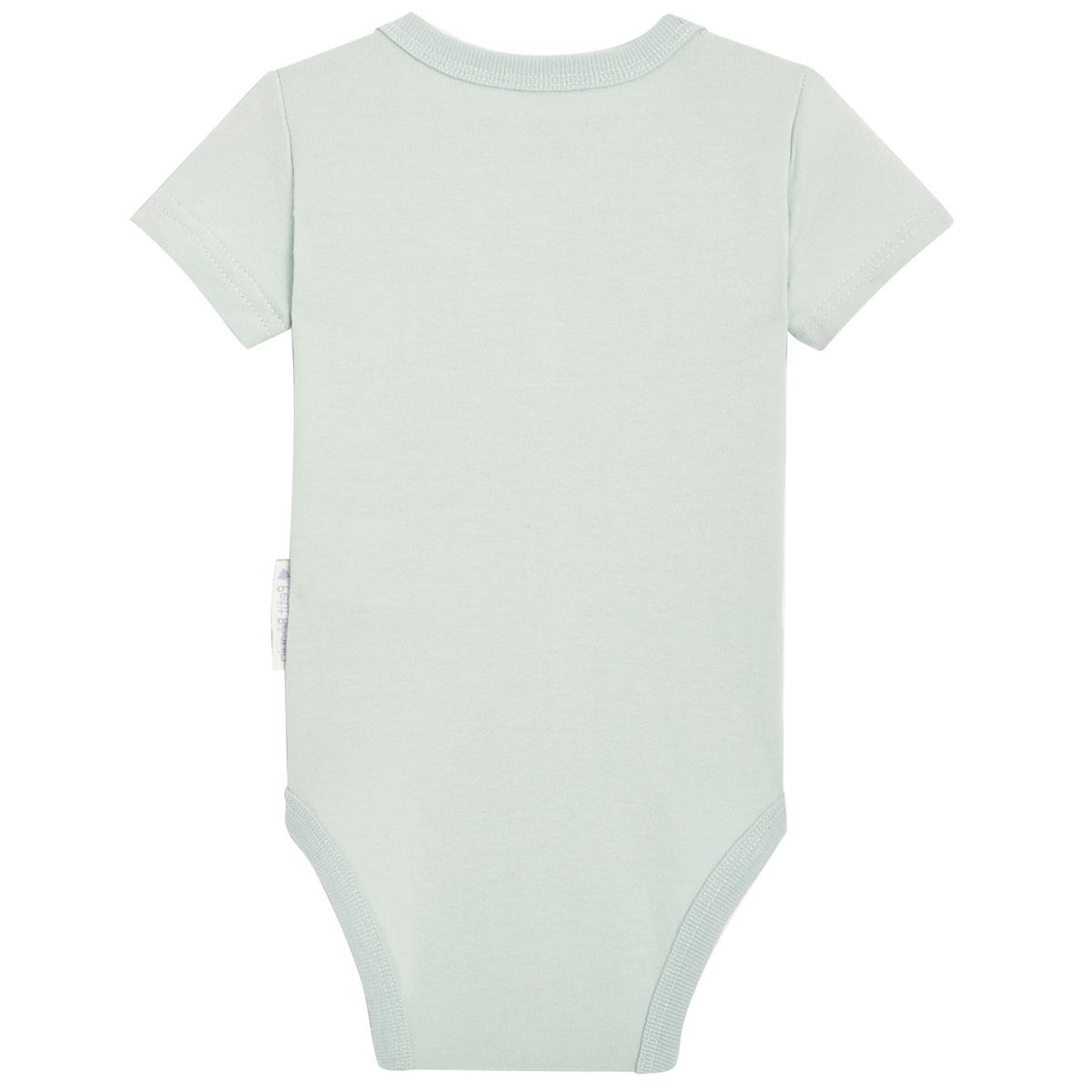 Lot de 2 bodies bébé garçon manches courtes contenant du coton bio Dinokoko 1 dos