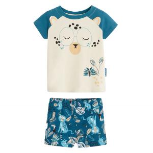 Pyjama garçon manches courtes en coton bio Tao
