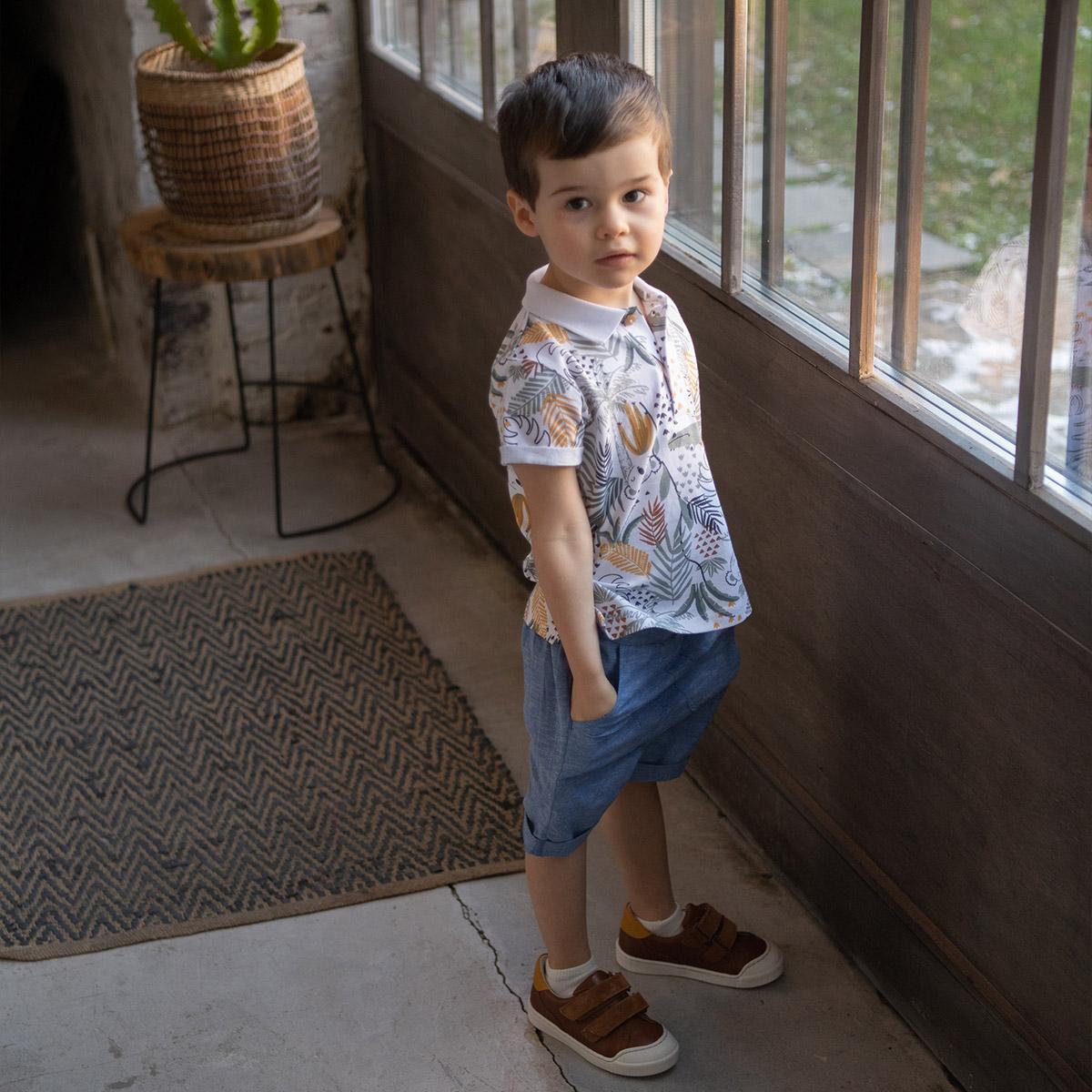 Short garçon Hector porté