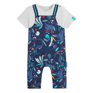 Salopette bébé garçon contenant du coton gratté bio et t-shirt Sea You