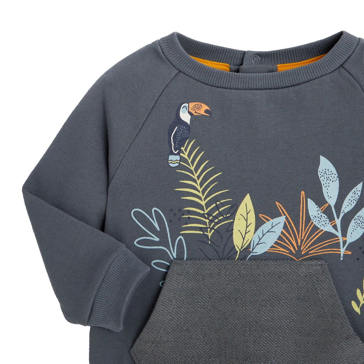Sweat-shirt garçon contenant du coton gratté bio Aloha Havana zoom