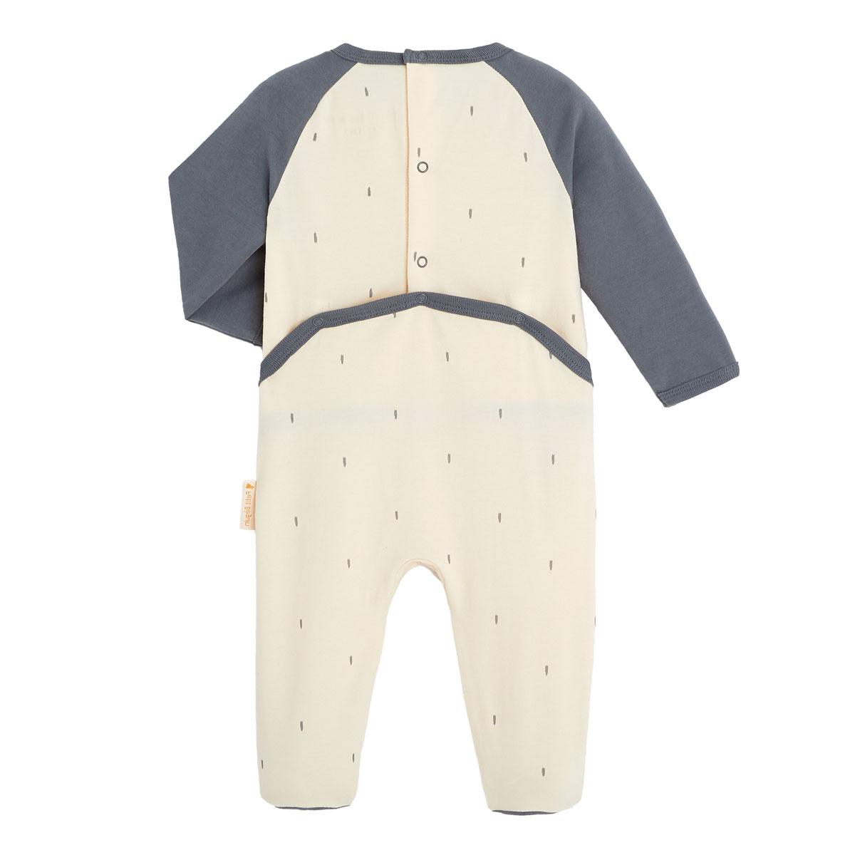 Pyjama bébé contenant du coton bio Aloha Havana dos