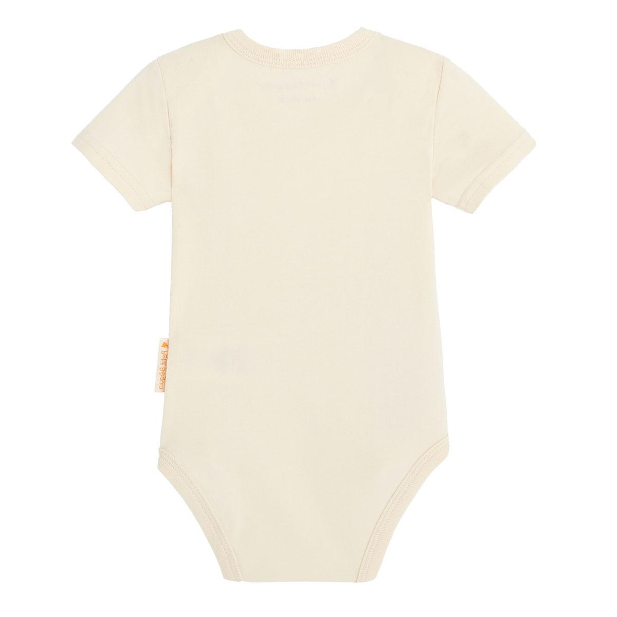 Lot de 2 bodies bébé garçon manches courtes contenant du coton bio Aloha Havana dos