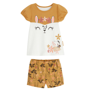 Pyjama fille manches courtes en coton bio Malia