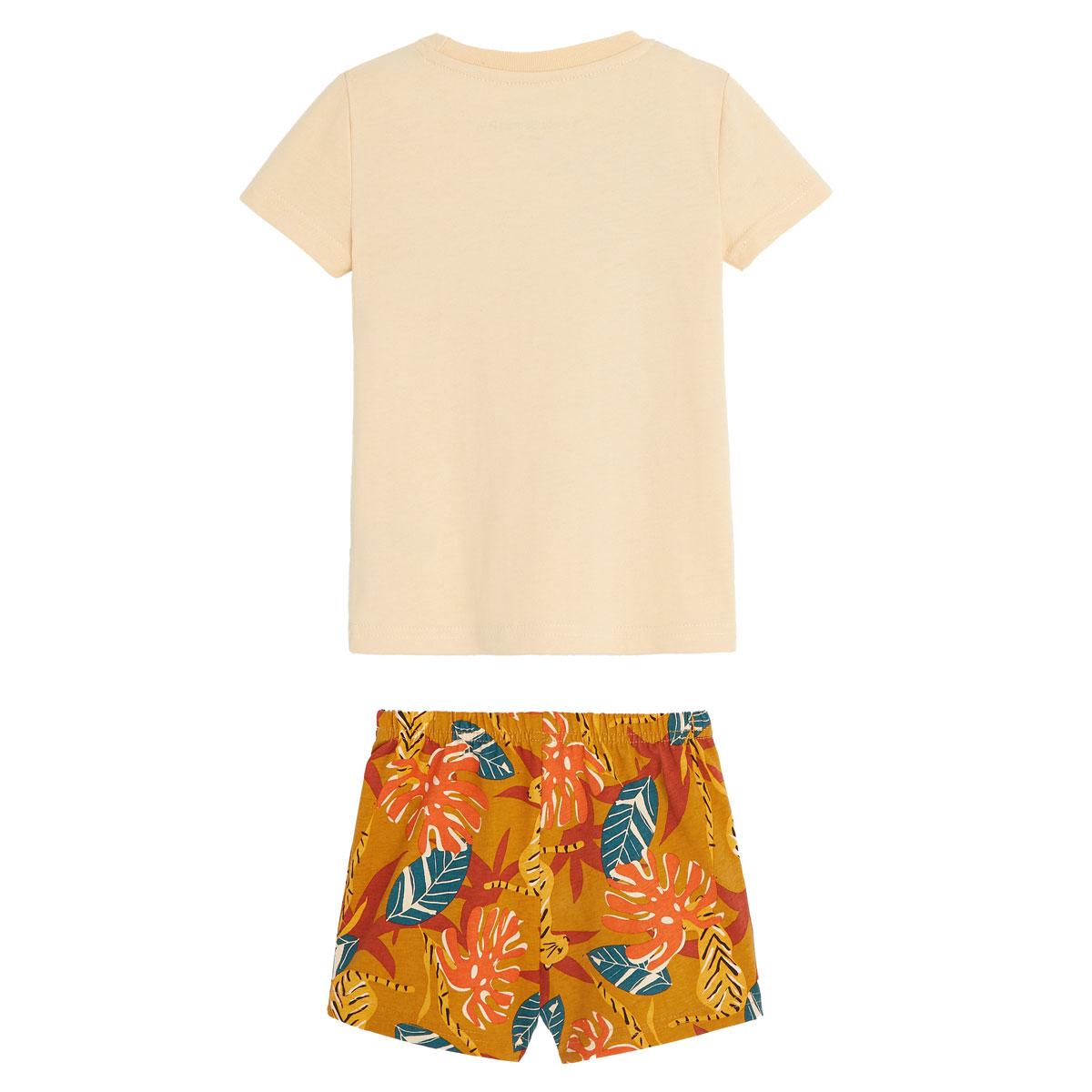 Pyjama garçon manches courtes en coton bio Emeric dos