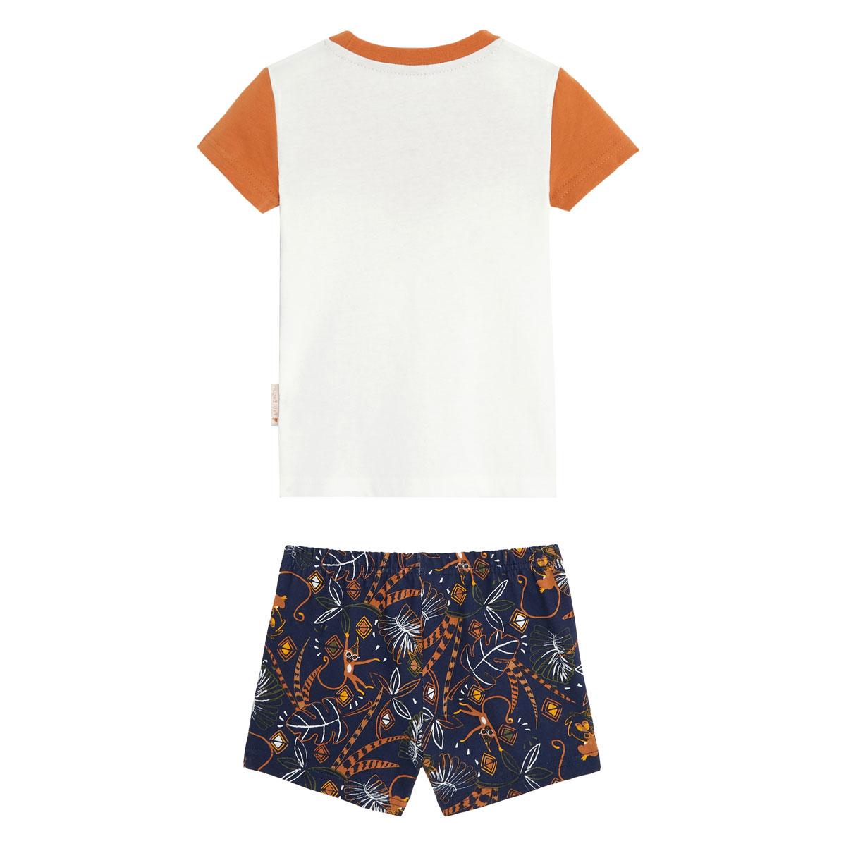Pyjama garçon manches courtes en coton bio Yoni dos