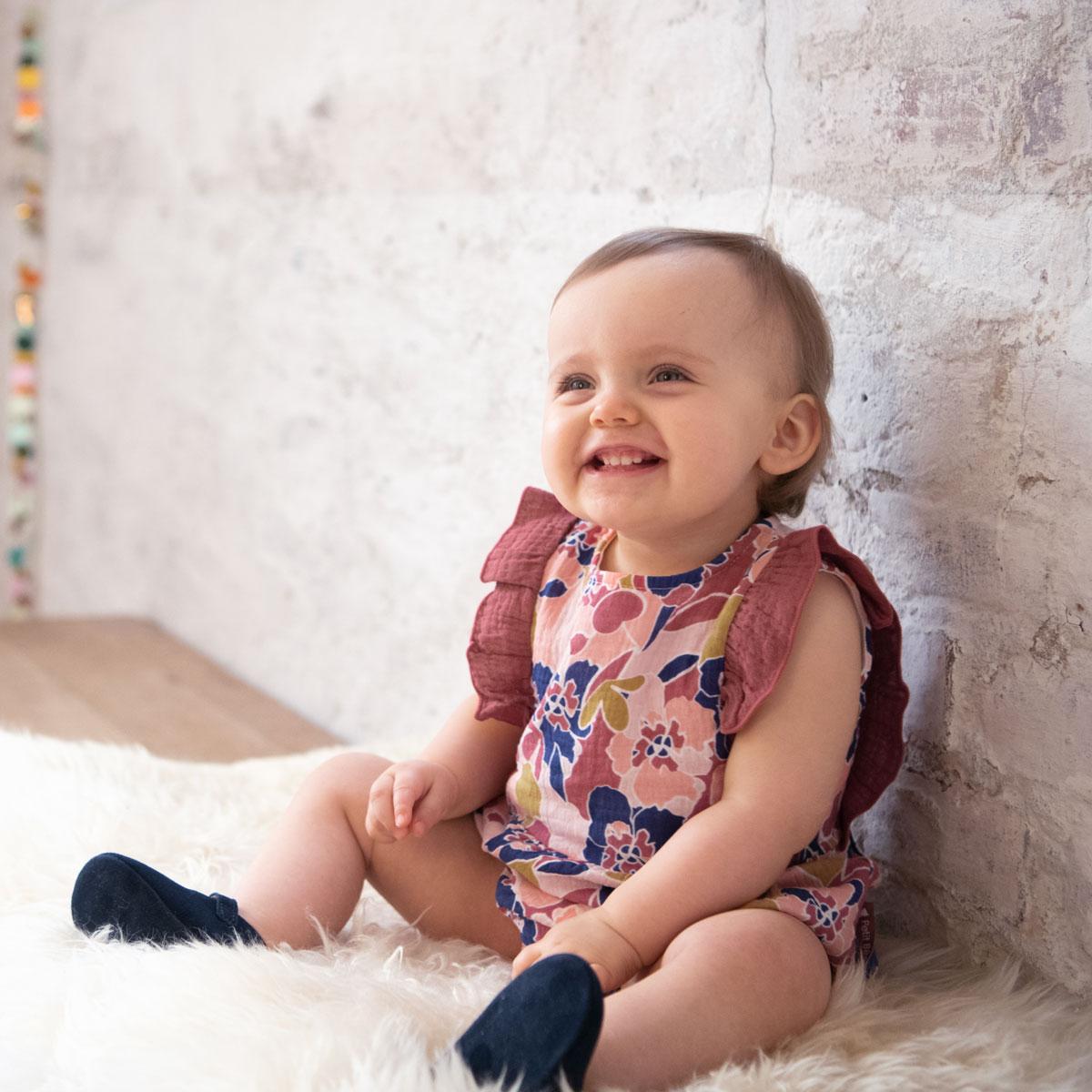 Barboteuse bébé fille Dolce Farniente au porté