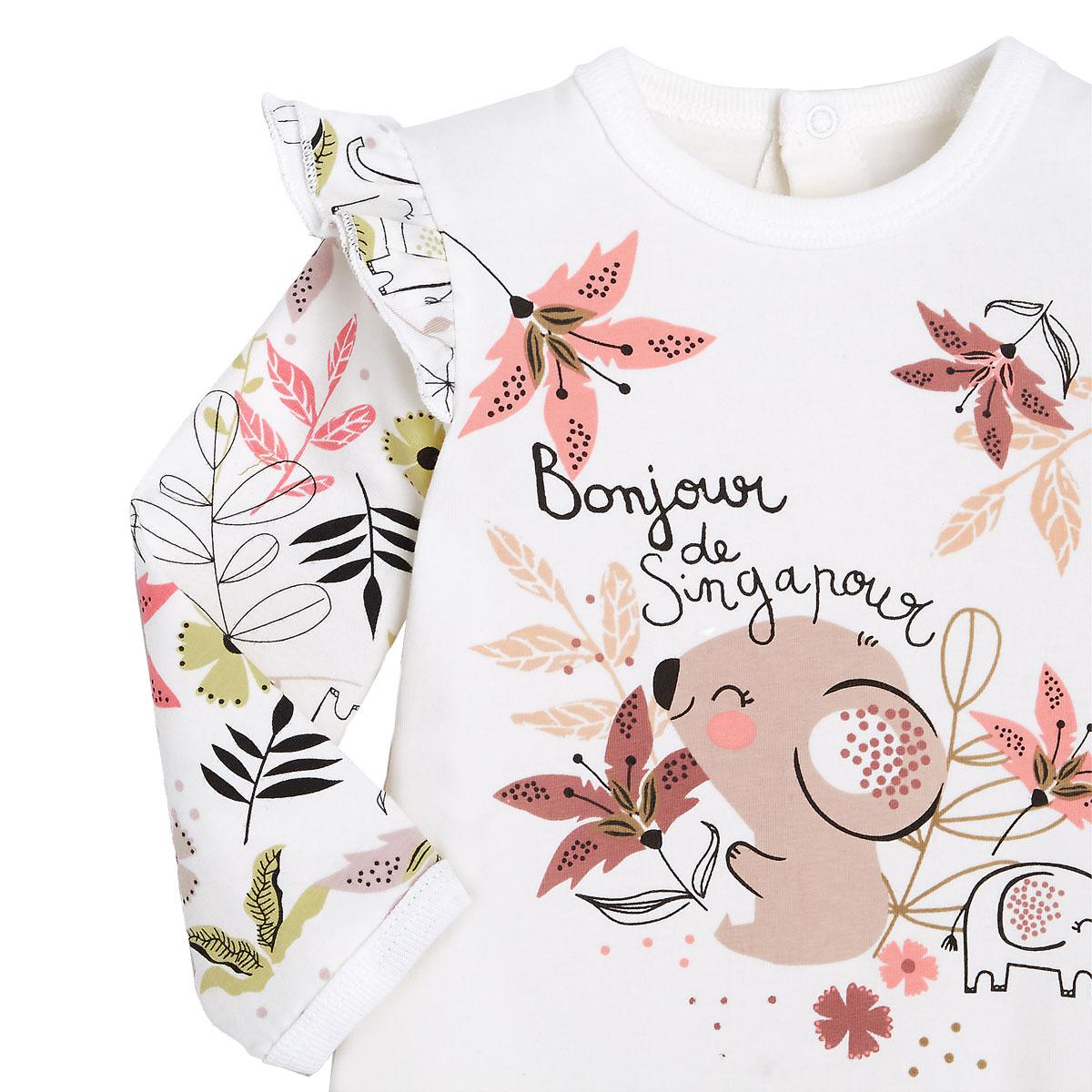 Pyjama bébé contenant du coton bio Singapour zoom