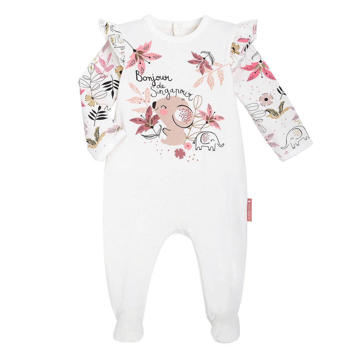 Pyjama bébé contenant du coton bio Singapour