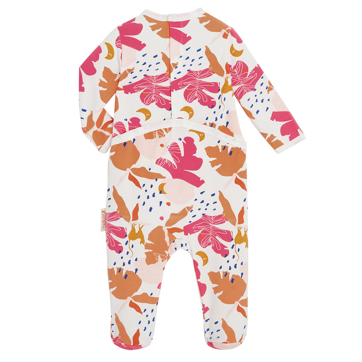 Pyjama bébé contenant du coton bio Perle de Lune dos