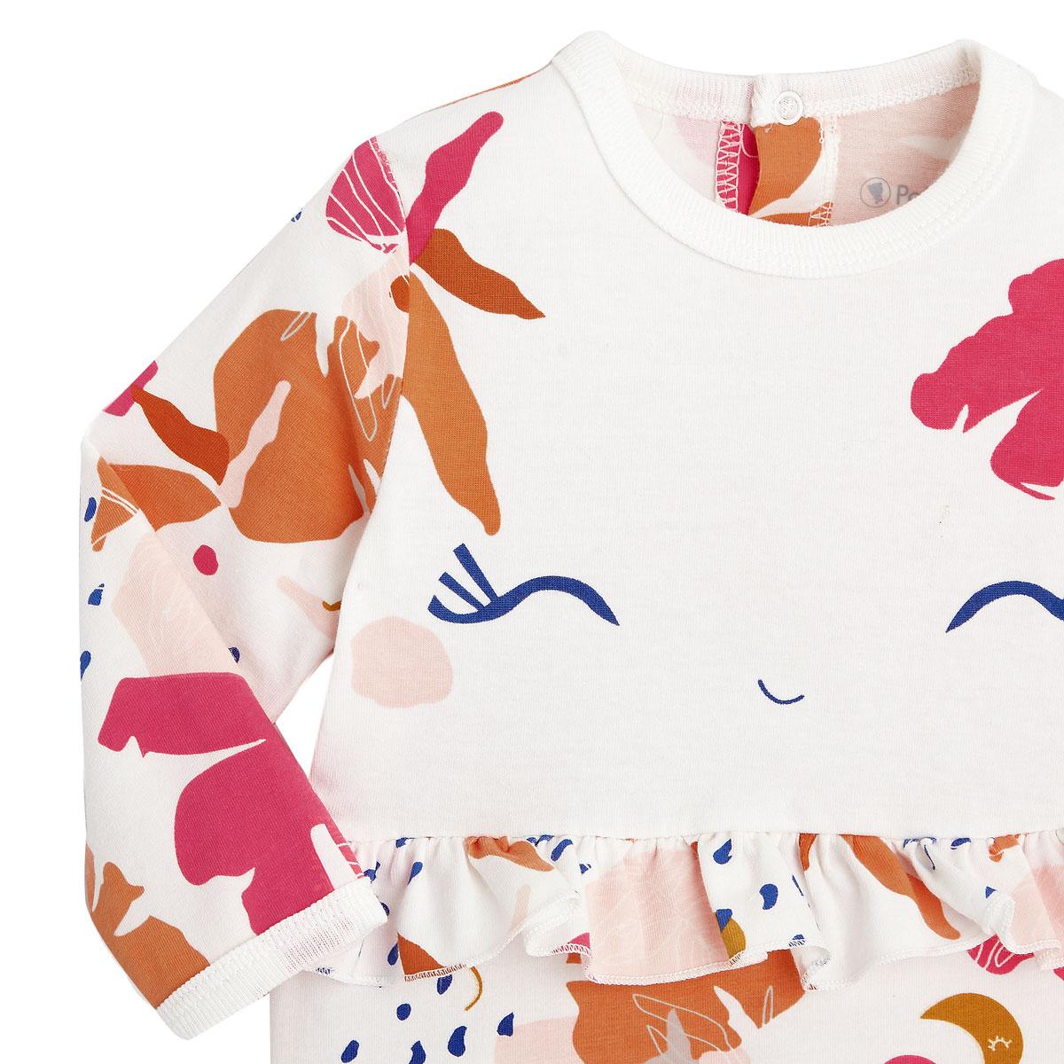 Pyjama bébé contenant du coton bio Perle de Lune zoom