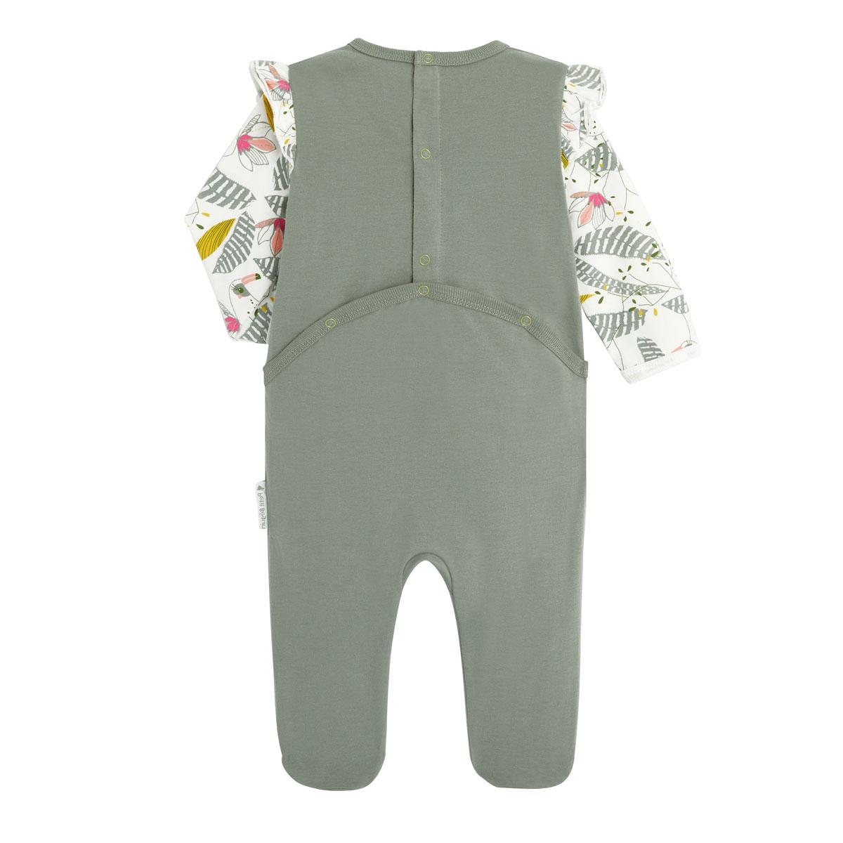Pyjama bébé contenant du coton bio Crazy Colibri dos