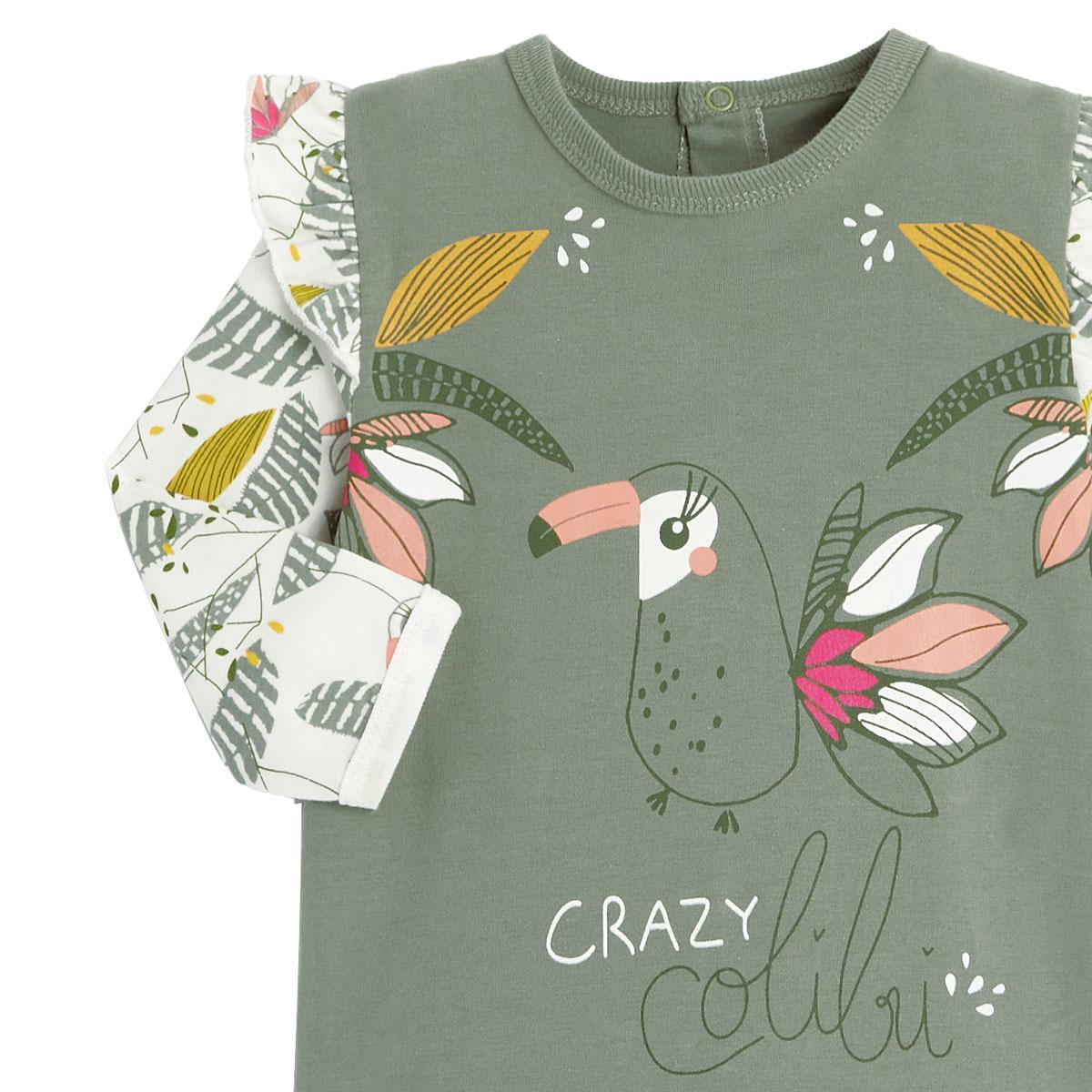 Pyjama bébé contenant du coton bio Crazy Colibri zoom