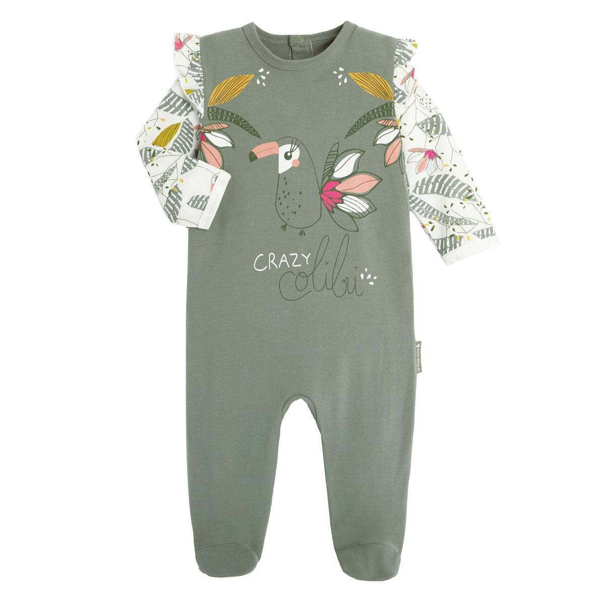 Pyjama bébé contenant du coton bio Crazy Colibri