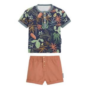 Ensemble bébé garçon t-shirt + short Crazy Jazzy