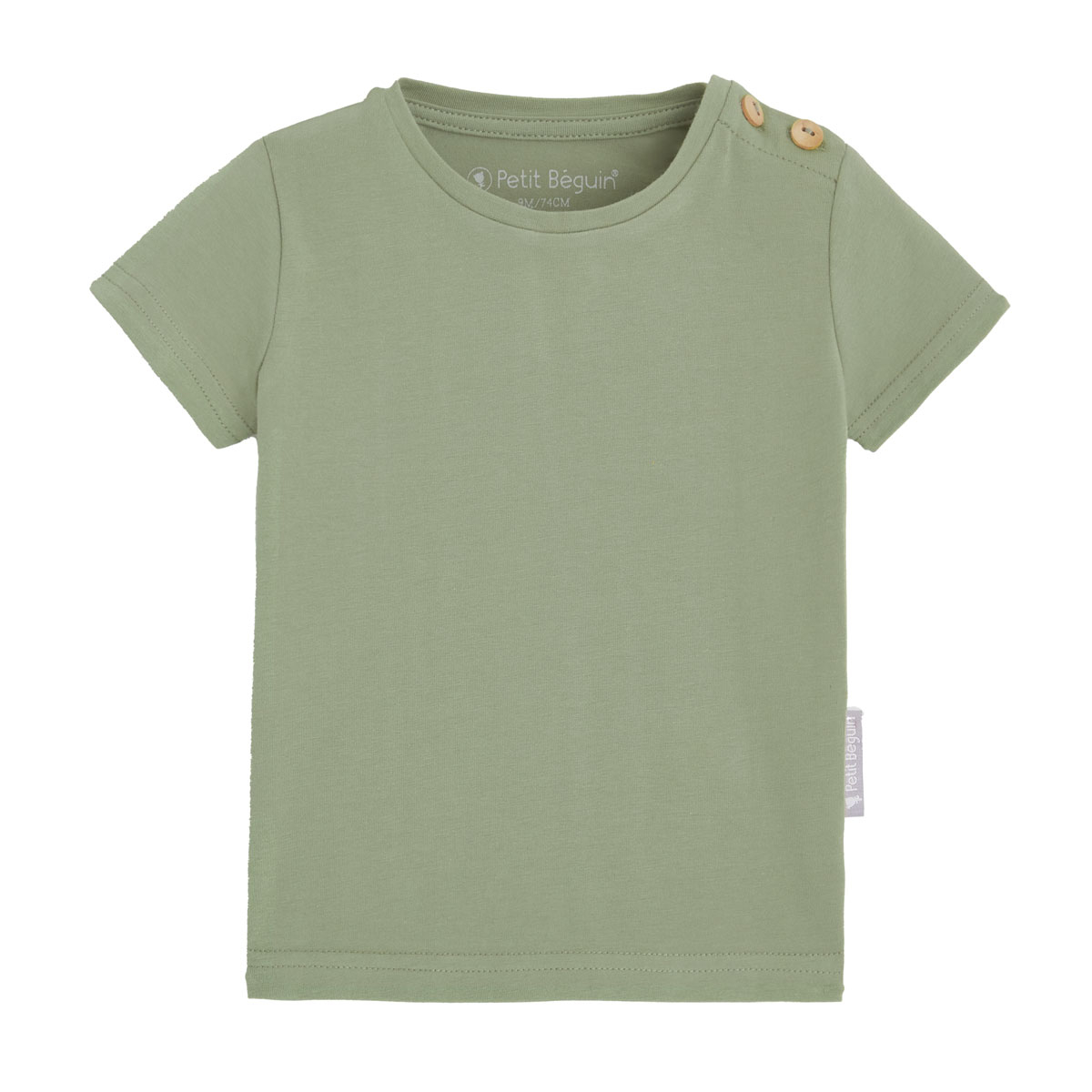 T-shirt manches courtes mixte vert