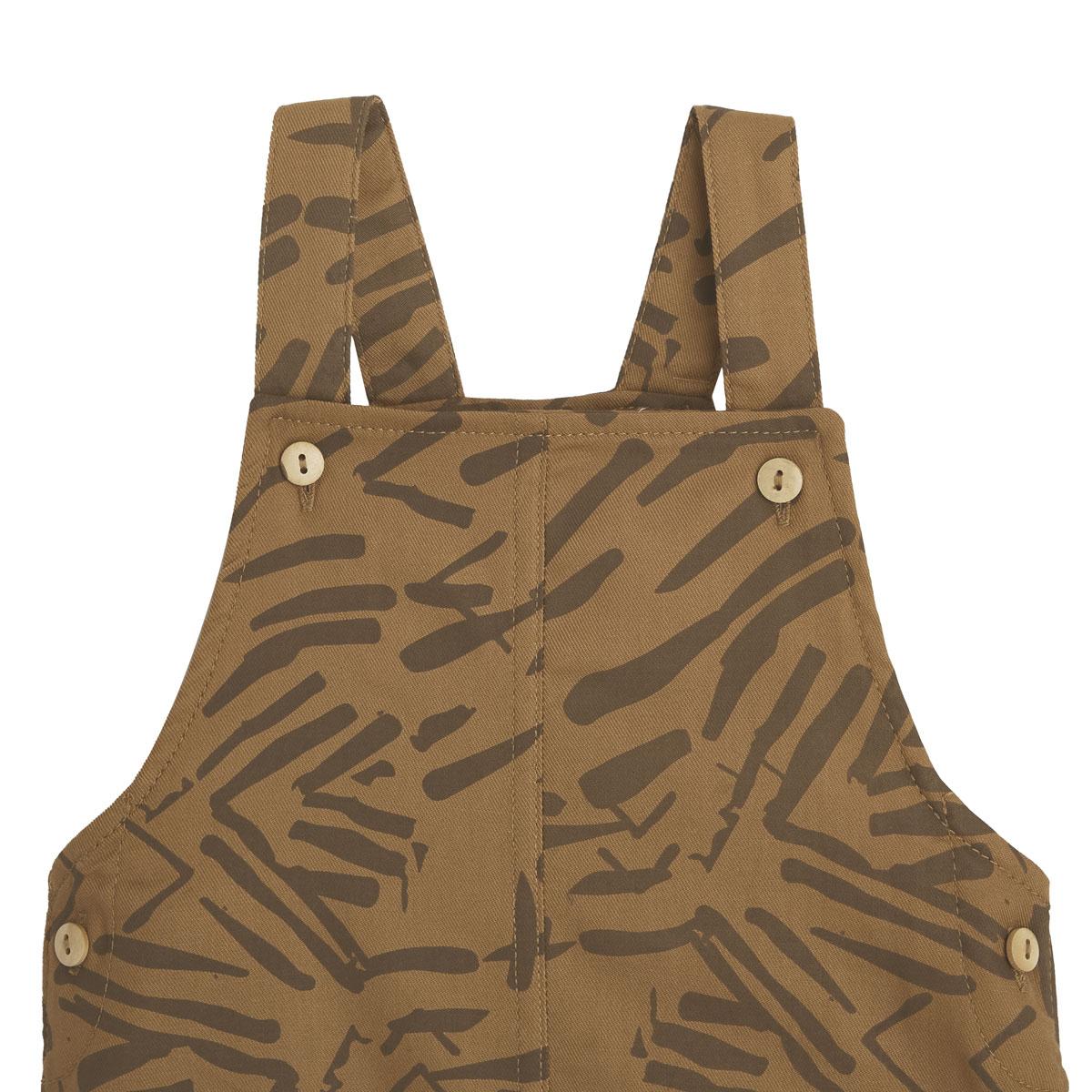 Salopette bébé garçon et t-shirt contenant du coton bio Wild Safari zoom