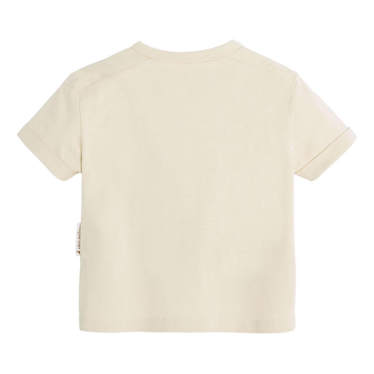 Ensemble bébé garçon t-shirt contenant du coton bio + short Wild Safari dos