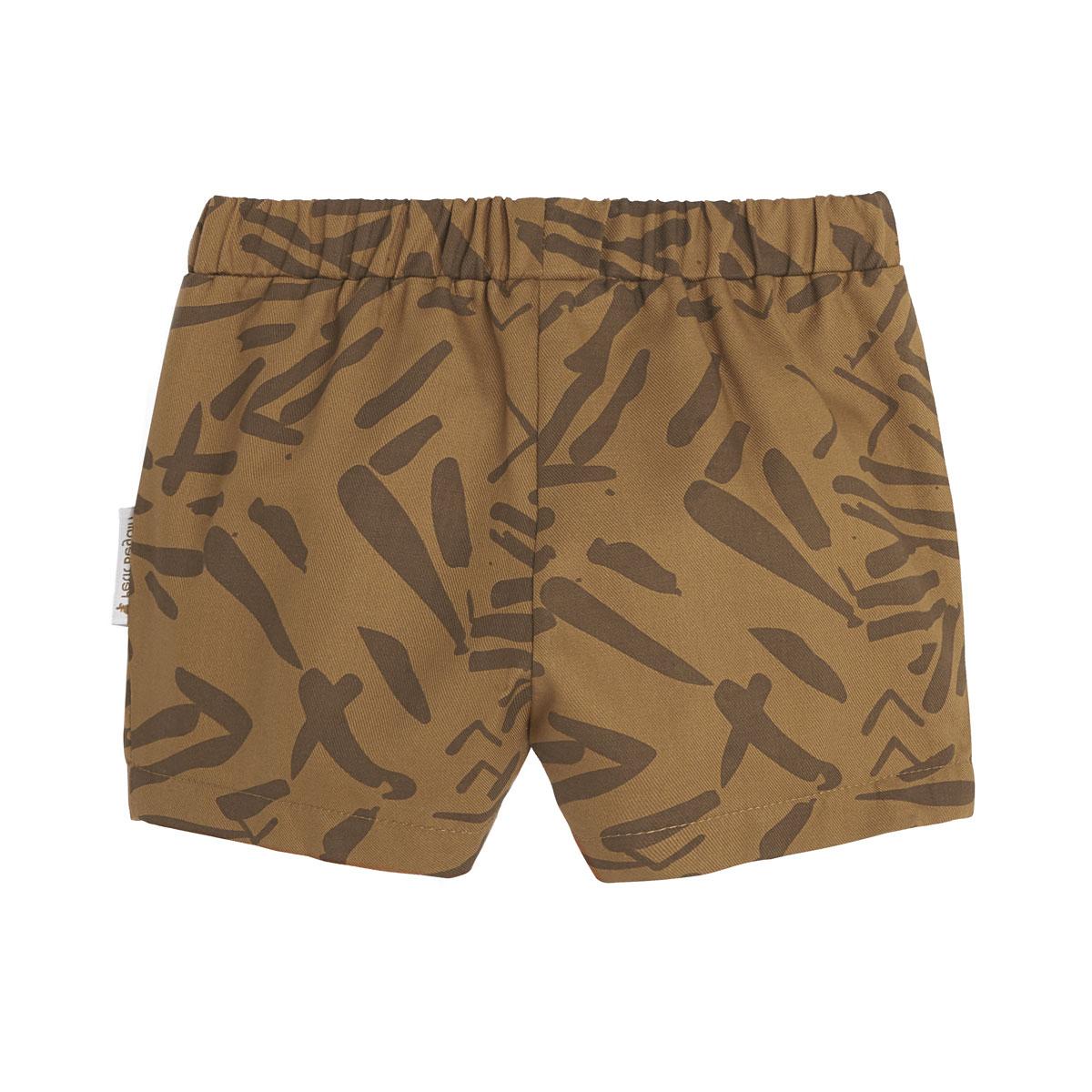 Ensemble bébé garçon t-shirt contenant du coton bio + short Wild Safari bas dos