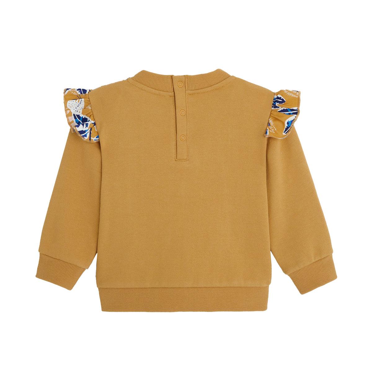 Sweat-shirt fille en coton gratté Hanoi dos