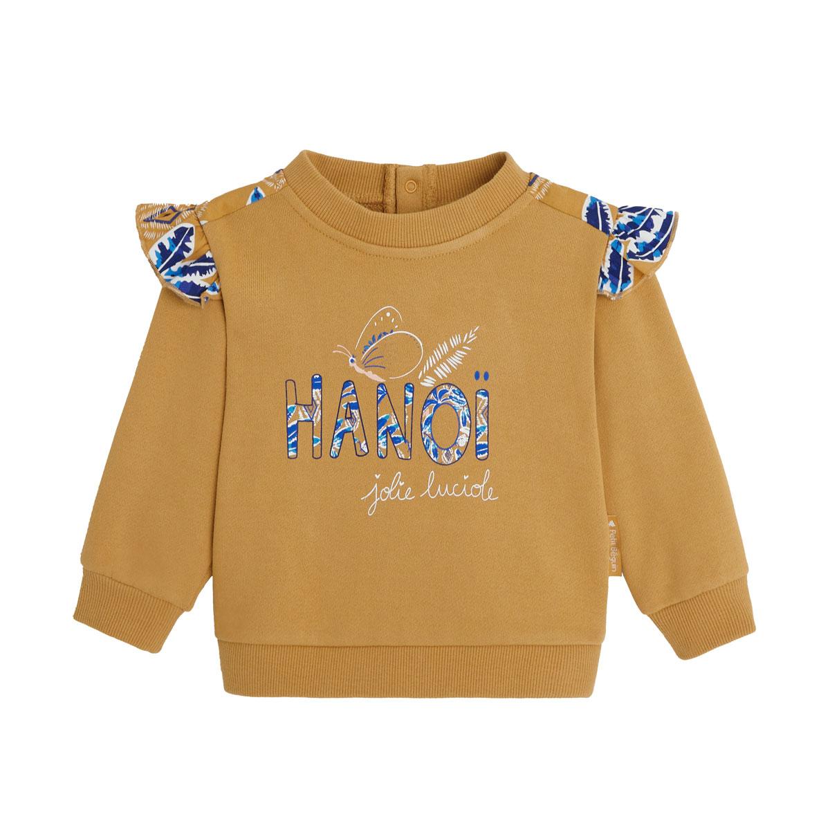 Sweat-shirt fille en coton gratté Hanoi