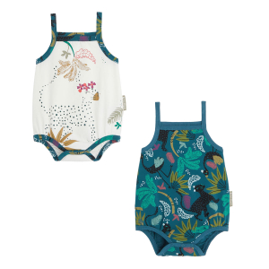 Lot de 2 bodies bébé fille à bretelles Blue Coco
