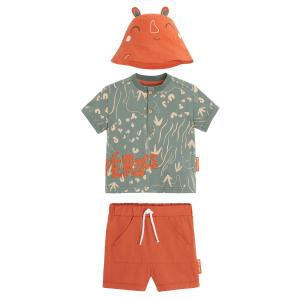 Ensemble bébé garçon t-shirt + short Féroce
