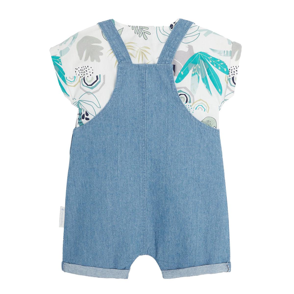 Salopette bébé garçon et t-shirt Dinokoko dos