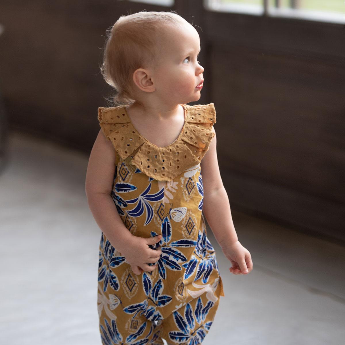 Barboteuse bébé fille Hanoi au porté