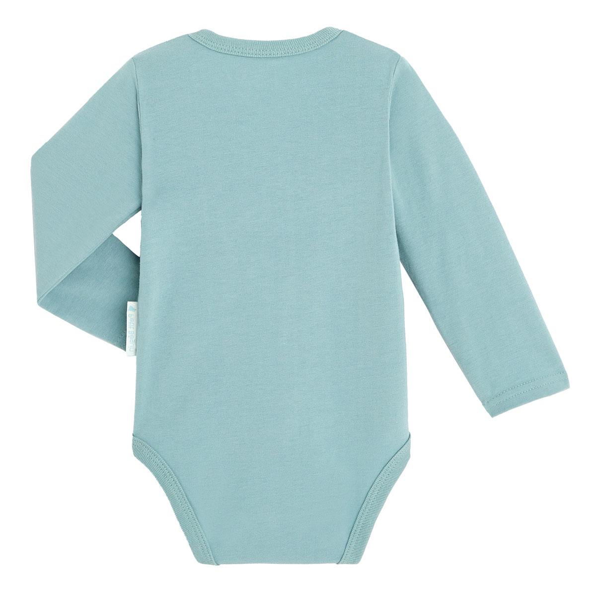 Lot de 2 bodies bébé mixte croisés manches longues contenant du coton bio Bonheur du matin 1 dos