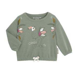Sweat-shirt fille contenant du coton gratté bio Crazy Colibri