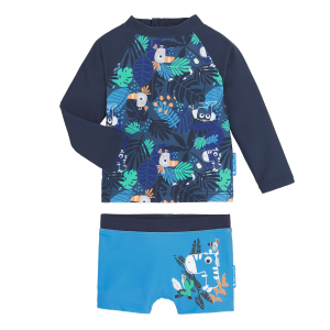 Maillot de bain garçon ANTI-UV 2 pièces t-shirt & boxer Timaël