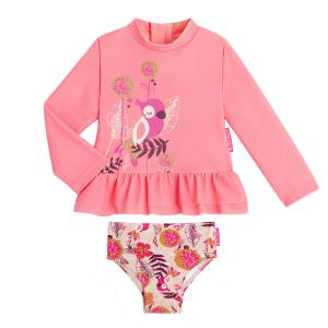 Maillot de bain ANTI-UV fille 2 pièces t-shirt & culotte Noumea