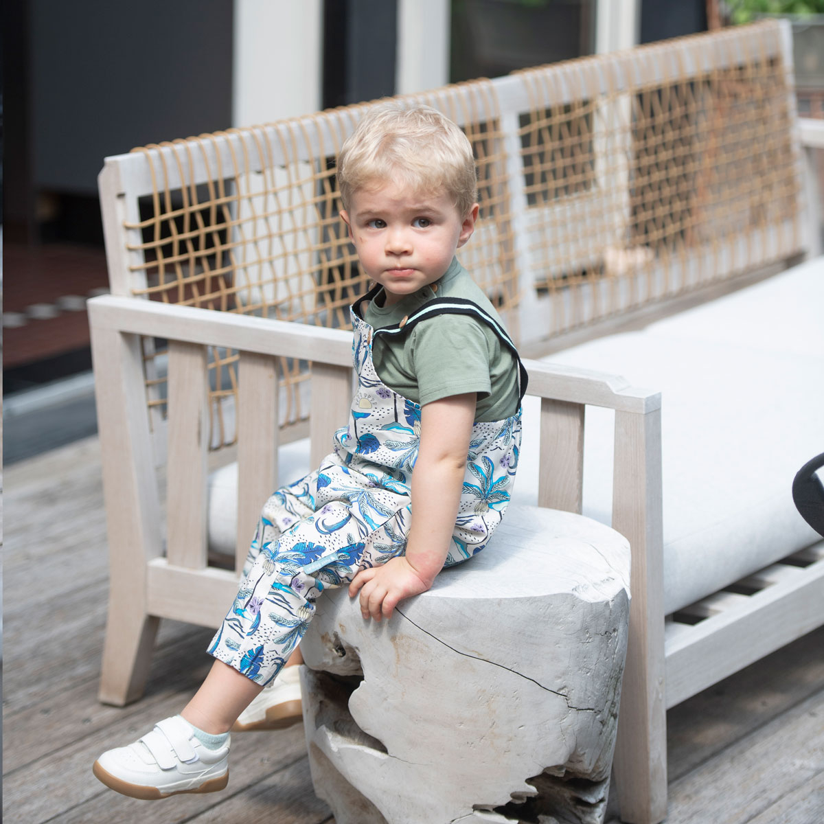 Salopette bébé garçon Makao porté assis
