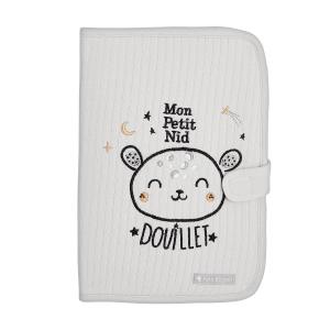 Protège carnet de santé bébé mixte contenant du coton bio Nid Douillet