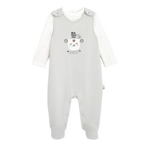 Salopette + T-shirt bébé mixte contenant du coton bio Nid Douillet