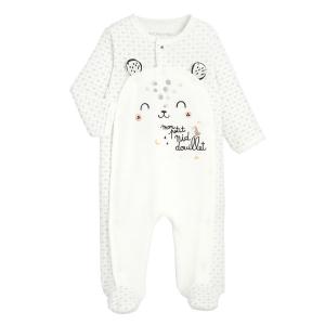 Pyjama bébé mixte en velours contenant du coton bio Nid Douillet