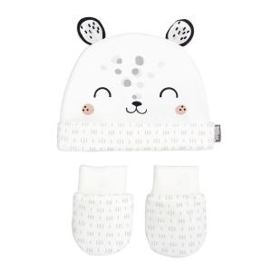 Bonnet + moufles anti-griffures bébé mixte en coton bio Nid Douillet
