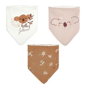 Lot de 3 bavoirs foulards bébé fille Janeiro