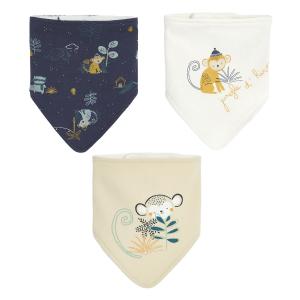 Lot de 3 bavoirs foulards bébé garçon Jungle d'Hiver