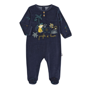 Pyjama bébé velours Jungle d'Hiver
