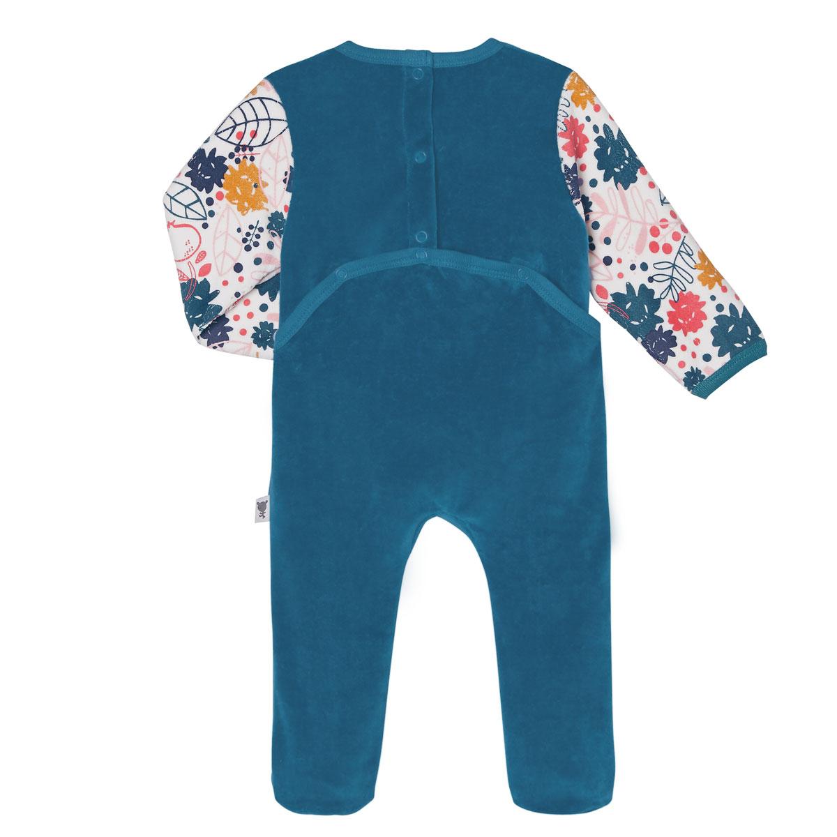 Pyjama bébé velours Lamapampa dos