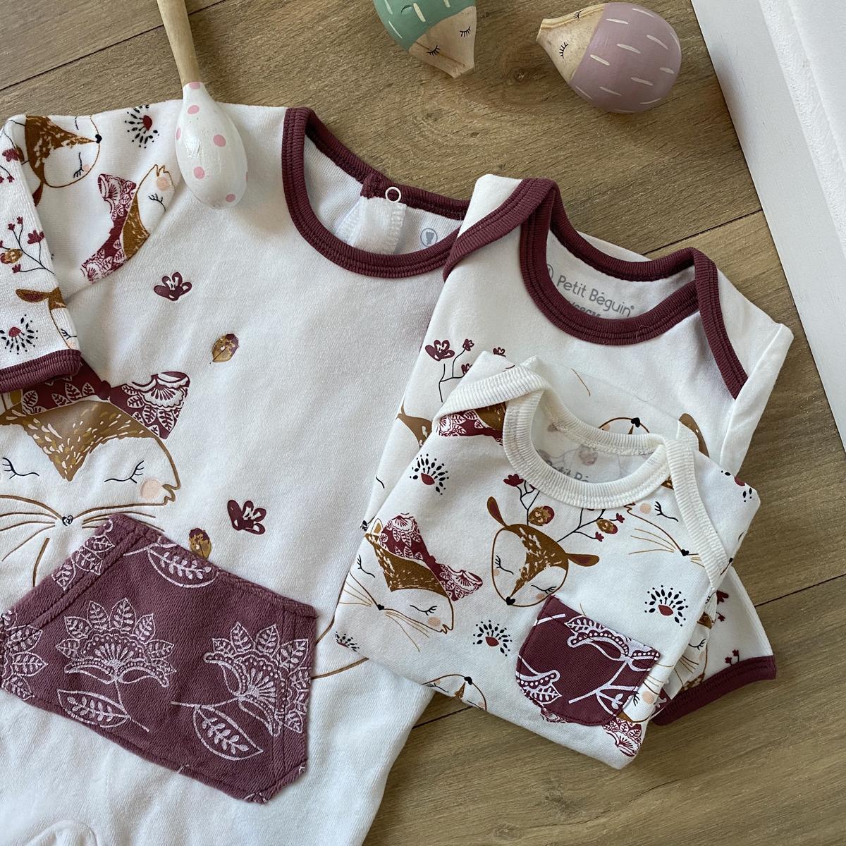 Pyjama bébé en velours Amaya insta
