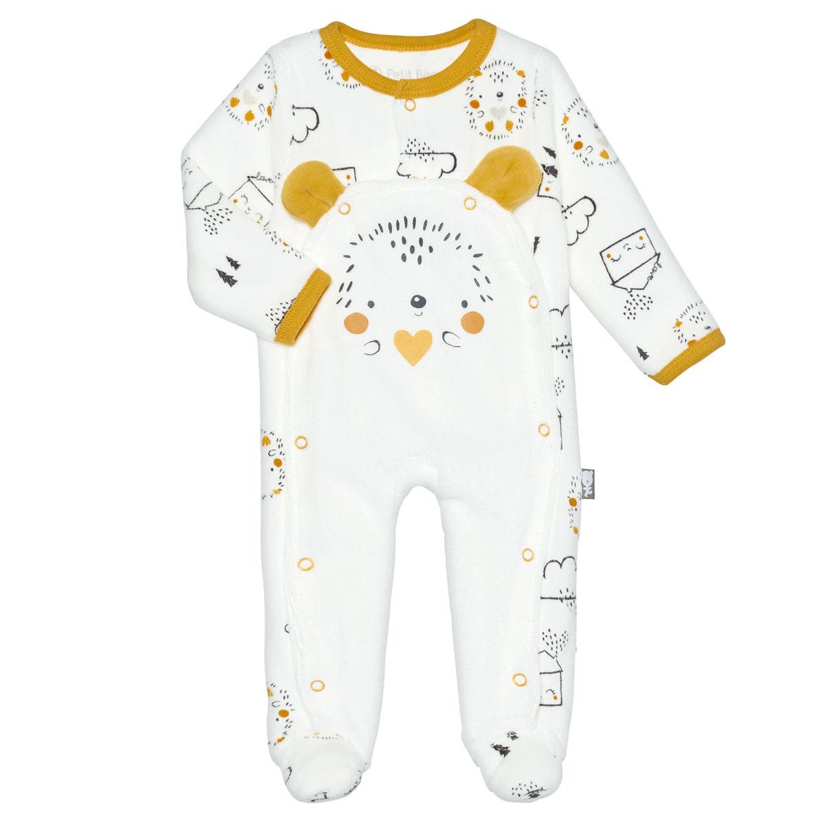 Pyjama bébé mixte velours Love Baby